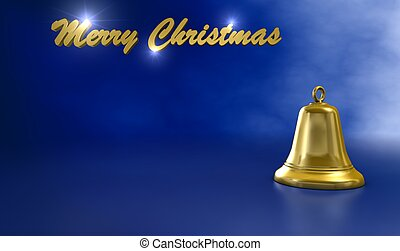 Merry christmas on blue background