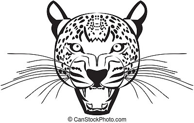 Leopard face vactor graphics