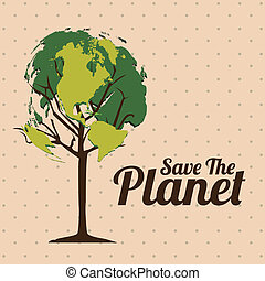 Planet earth - Illustration of planet earth, earth day,...