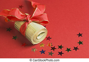 Christmas bonus - with red ribbon