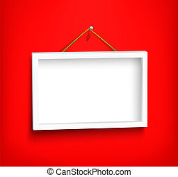 White frame on the wall