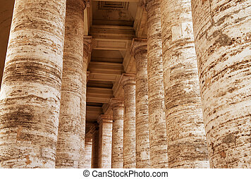 Magnificient Columns of Piazza San Pietro, Vatican City...