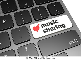 Music sharing - Rendered artwork with white background