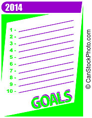 2014 goals - List of 10 personal goals to accomplish in the...