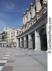 Madrid Streetscape - Madrid streetscape Plaza of the...