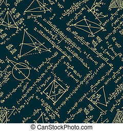 Maths seamless pattern. EPS 8