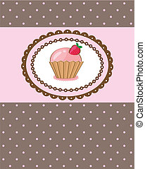 Piece of cake, cupcake vector illustration - Piece of cake,...