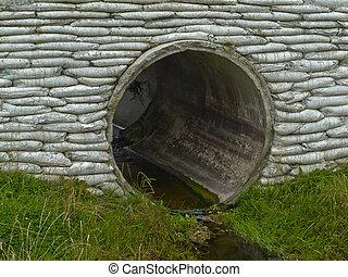 Storm culvert drainage pipe concrete revetment - Large...