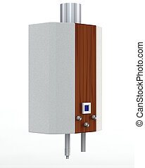 water heater - gas heater on a white background