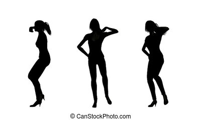 dancing woman - silhouette of woman