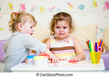 kid offended by her younger sister