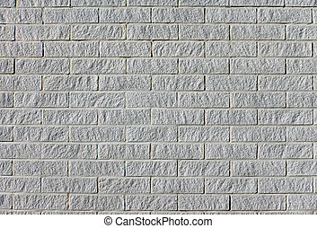 Fine grey brickwall - Beautiful background of a new grey...