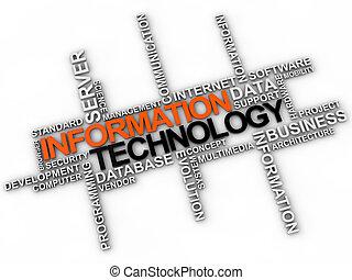 information technology - Information technology word cloud...