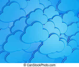 3d cloud computing icon background