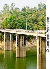 Cement bridges Kanchanaburi in Thailand