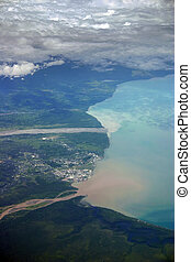 Lae city Papua New Guinea - Aerial photo of the city of Lae...