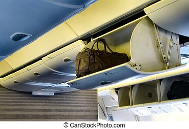 Inside airplane - Details inside an airplane cabin