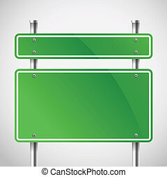 Blank green metal boards. Template for a text