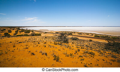dry lake Australia - An image of a dry lake in south...