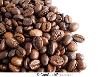 coffee beans background 4 - Coffee beans on the white...