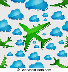 Airplanes in the air