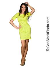 Beautiful woman fashion model