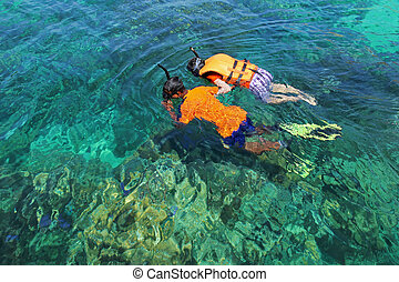 Snorkeling - Snorkeling island in Thailand It is a popular...