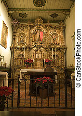 Mission San Juan Capistrano Church Alter Close Up - Mission...