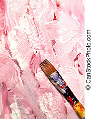 Vivid strokes and paintbrush - Vivid playful strokes and...