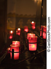 MISSION SAN JUAN CAPISTRANO CANDLES IN THE CHAPEL - CANDELS...