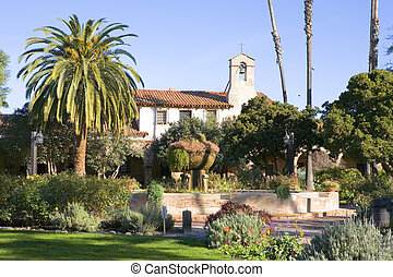 MISSION SAN JUAN CAPISTRANO FOUNTAIN AND BELL - MISSION SAN...