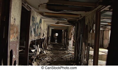 Ruined Building Hallway Junction - Gotta get out of here...