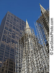 St Patric s Cathedral under reconstruction New York City