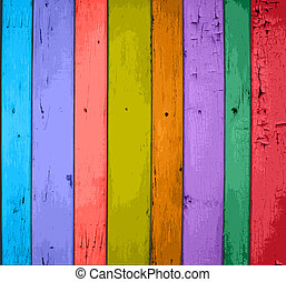 Colorful Vector Wooden Planks Background