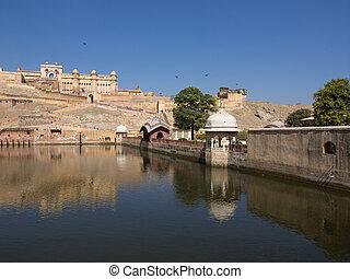 amber fort - Beautiful Amber Fort near Jaipur city in...