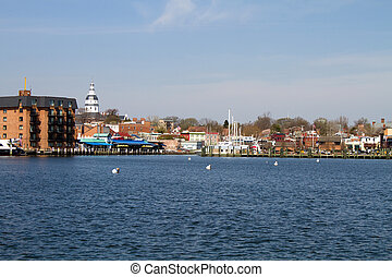 Annapolis City Skyline - Skyline of the city of Annapolis,...