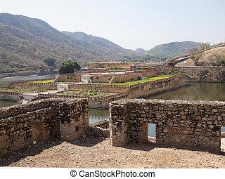amber fort - gardens of Amber fort in Jaipur