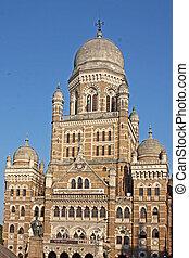 Beautiful old building near Vicoria Terminus in Mumbai,...