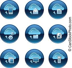 Cloud service buttons set