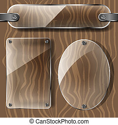 transparency plates on the wood
