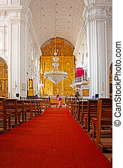 Church of St. Cajetan, was built in 1661, Old Goa city,...