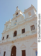 The Panjim Church of Our Lady of the Immaculate Conception in goa, india