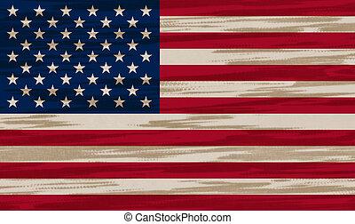 US Flag cotton texture