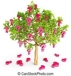 preguntas, señal, crecer, árbol, frequently,...