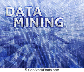 Data mining illustration - Data mining abstract, computer...