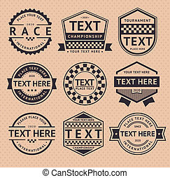 Racing insignia, vintage style