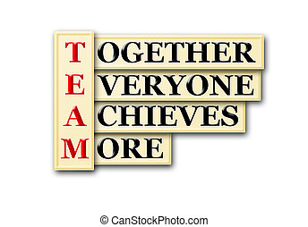 team - acronym concept of Team  and other releated words