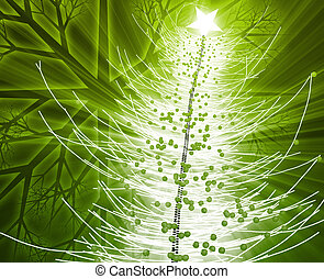 Christmas tree - Festive christmas tree seasonl holiday...