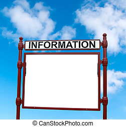 Information billboard on the sky background