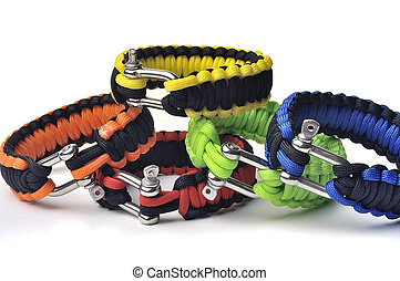 bracelets of survival offering a useful reserve of cord for...